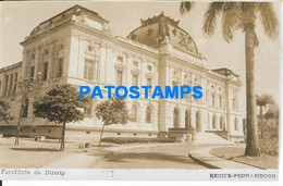 157561 BRAZIL BRASIL RECIFE PERNAMBUCO FACULTY OF LAW POSTAL POSTCARD - Unclassified