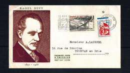 FDC-1110**FRANCE 1967**Raoul Dufy FDC W CACHET - 1960-1969