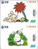2 X China Prepaidcard Schildkröte Turtle Cimic - Tartarughe