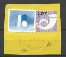 Estland Estonia O 2021 Briefstück Mit 2 Marken - Estonia