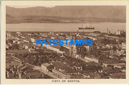 157563 BRAZIL BRASIL SANTOS SAO PAULO VIEW PARTIAL & SHIP POSTAL POSTCARD - Unclassified