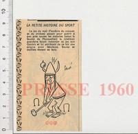Humour 1960 Sport Jeu Du Mail Ancêtre Du Croquet Et Du Cricket Gaulois Boules Et Maillets En Buis Casque Gaule 51H5 - Unclassified