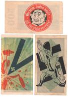 SALE 3 Germany Anti-Nazi Propaganda FORGERY Overprint On Genuine Mark 1922/1923 Banknote VF- (small Tears) - Other