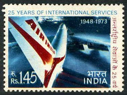 Inde India Indien 1973 Air India International 25 Years Boeing 747 Jumbo Jet  (YT 368, Mi 566, SG 686, Scott  ) - Aerei