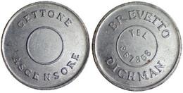 03339 GETTONE TOKEN JETON TRASPORTO ASCENSORE ELEVATOR ROMA SISTEMA DICHMAN (VARIANTE) - Unclassified