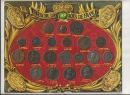 """Plateau BP """" TRESOR Des ROIS De FRANCE """"; Avec 20 Reproductions De Pièces Anciennes ( Complet ) + 5 Doubles Offerts - Professionals / Firms"""