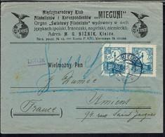 Pologne - Affranchissement à 6 Gr En Paire Sur Enveloppe De Kièlce 22-1-1926 à Destination D'Amiens (Fr) B/TB - - Cartas