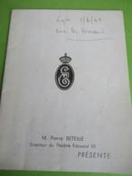 """Théâtre EDOUARD VII/ """" La PRISONNIERE""""/Pierre BLANCHAR/Pierre BETEILLE Directeur/ Hubert ROSTAING/ 1949      PROG277 - Programs"""