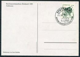1939 (17th June) Germany Stuttgart Reichs Gartenschau Feldblumen Flowers Postcard - Storia Postale