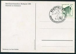1939 (May 2nd) Germany Stuttgart Reichs Gartenschau  Flowers Postcard - Storia Postale