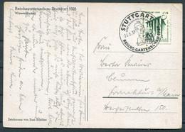 1939 (June 26th) Germany Stuttgart Reichs Gartenschau Wiesenblumen Flowers Postcard - Storia Postale