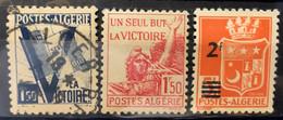 ALGERIA - M/U  - 1943 -  # 164/166 - Algeria (1962-...)