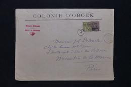 OBOCK - Enveloppe En Recommandé Du Gouverneur Pour Le Ministère De La Marine à Paris En 1892 ( Avec Entaille ) - L 94703 - Lettres & Documents