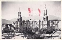 Arequipa - La Catedral Y El Chachani Viaggiata 1966 - Peru