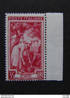 """ITALIA Repubblica - 1950- """"Lavoro""""  £. 35 Varieta' Filigrana DA MNH** (descrizione) - 1946-60: Neufs"""
