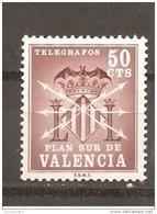 España/Spain-(MNH/**) - Edifil  Valencia-2 - Yvert 1149 - 1961-70 Ongebruikt