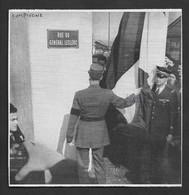 1948  --  COMPIEGNE . DE GAULE INAUGURE LA RUE DU GENERAL LECLERC . 3V320 - Unclassified