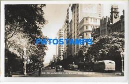 157587 BRAZIL BRASIL RIO DE JANEIRO AVENUE RIO BRANCO PHOTO NO POSTAL POSTCARD - Unclassified