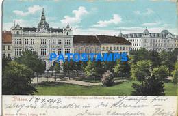 157588 CZECH REPUBLIC PILSEN KOPECKY PLANTS WITH HOTEL WALDECK CIRCULATED TO BRAZIL POSTAL POSTCARD - Czech Republic