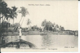 9 - GRAND-LAHOU - LA LAGUNE  ( Animées  ) - Ivory Coast