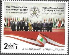 LEBANON , 2020, MNH, ARAB ECONOMIC AND SOCIAL DEVELOPMENT SUMMIT,1v - Other