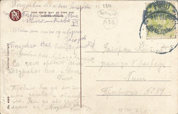 001125 - SERBIA - Mi134 FRANKING POSTCARD POSTED IN BEOGRAD TO NIS - 1918 - Serbia