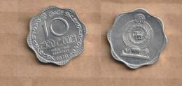 CEYLAN   10 Cents 1978  Aluminium • 1.2700 G • ⌀ 23 Mm KM# 140a - Sri Lanka