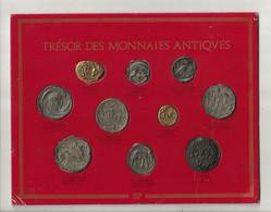 """Plateau BP """" TRESOR Des MONNAIES ANTIQUES """"; Avec 10 Reproductions De Pièces Anciennes ( Complet ) + Doubles Offerts - Professionals / Firms"""