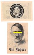 RARE SET 4 WW2 Germany Nazi NSDAP Judaica Anti-Jewish Propaganda FORGERY Overprint On Genuine 1923 Banknote VF+ - Other