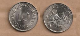 MALTA    10 Cents 1972 Copper-nickel • 11.3 G • ⌀ 28.5 Mm KM# 11, Schön# 11 - Malta