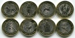 Kazakhstan  2020. Treasures Of Steppe (Jeti Qazna) Set Of 7 Coins 100 Tenge - Russia