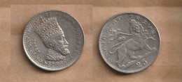 ETIOPIA  25 Matonas -1923 (1931) Nickel • 4.97 G • ⌀ 21.58 Mm KM# 30, Schön# 2 - Ethiopia