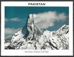 PAKISTAN POSTCARD , VIEW CARD MUSTAGH TOWER 7273 M MOUNTAIN - Pakistan