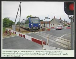 2014  --  PASSAGE DE TRAIN AU PASSAGE A NIVEAU DE CHABRIS . 3V330 - Unclassified
