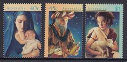 Australia 1996 MiNr. 1606 - 1608 FACE VALUE !  Australien CHRISTMAS Religions  Christianity  3v MLH*  3.70 € - Mint Stamps
