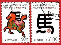 Australien / Christmas Island 2014 , Year Of The Horse 2014 - CTO Gestempelt / Fine Used / (o) - Christmas Island