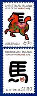 Australien / Christmas Island 2014 , Year Of The Horse 2014 - Postfrisch / MNH / (**) - Christmas Island
