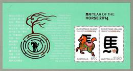 Australien / Christmas Island 2014 , Year Of The Horse 2014 - Sheet - Postfrisch / MNH / (**) - Christmas Island