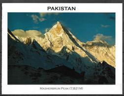 PAKISTAN POSTCARD , VIEW CARD MASHERBRUM PEAK 7821M MOUNTAIN - Pakistan