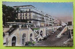 ALGÉRIE - Alger - Bld De La République Hôtel Oasis - Tram Camion - CPA Carte Postale Ancienne - Vers 1950 - Algiers