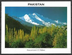PAKISTAN POSTCARD , VIEW CARD RAKAPOSHI 7788M MOUNTAIN - Pakistan