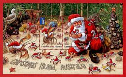 Australien / Christmas Island 2014 , Christmas / Weihnachten / Noel - Sheet - Postfrisch / MNH / (**) - Christmas Island