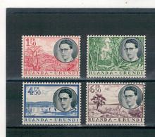 1955 - Voyage Royal Au Ruanda-Urundi - Effigie Du Roi Baudouin Et Paysages. - 1948-61: Nuovi