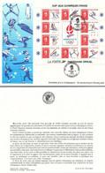 FRANCE - FDC GRANDE ENVELOPPE - XVI JEUX OLYMPIQUES D'HIVER  - ALBERTVILLE 92 - 8.2.92  / TBS - Non Classificati