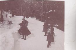 Photo De Particulier Neuchâtel Cottage Du Lac Sous La Neige 1898 Réf 4063 - Unclassified