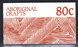 AUSTRALIA - 1987 ABORIGINAL CRAFTS 80c BOOKLET FINE USED CTO SG SB57 (2 SCANS) - Booklets