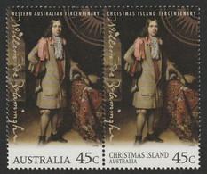 Christmas Island 1996 MiNr. 426 / 1610 Weihnachtsinsel Willem De Vlamingh's Voyage, Joint Issue  2v MLH*  3.00 € - Christmas Island