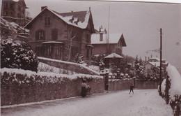 Photo De Particulier Neuchâtel Cottage Du Lac Sous La Neige 1898 Réf 4064 - Unclassified