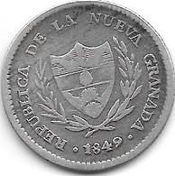 *colombia  Neuva Granada 2 Reales  1849  Km 105 - Colombia