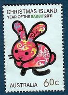 Australien / Christmas Island 2011  Mi.Nr. 789 , Year Of The Rabbit - Postfrisch / MNH / (**) - Christmas Island